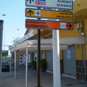 El Ayuntamiento pone en marcha la medida de Cs Elche que exigía la instalación de una nueva señalización vertical bilingüe