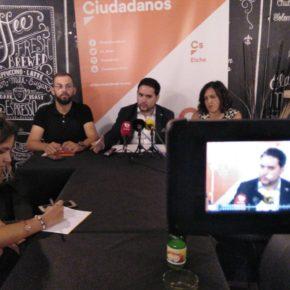 David Caballero defiende los cuatro ejes de Ciudadanos Elche para este inicio de curso político